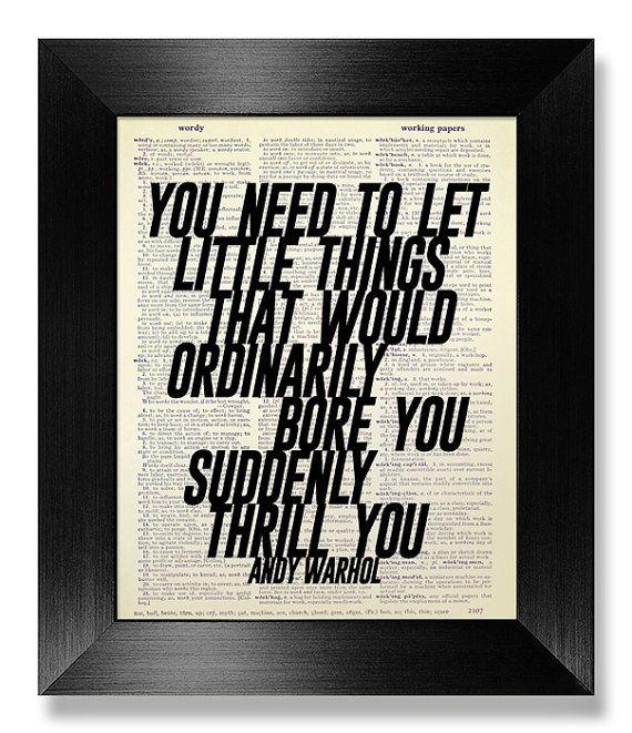 Andy WARHOL Inspirational Quote Print Typographic by ...