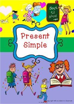 The Simple Present Tense Simple Present Tense Language Arts Lessons Presents