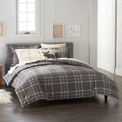 Cuddl Duds Flannel Comforter Set Plaid Bedding Sets Plaid