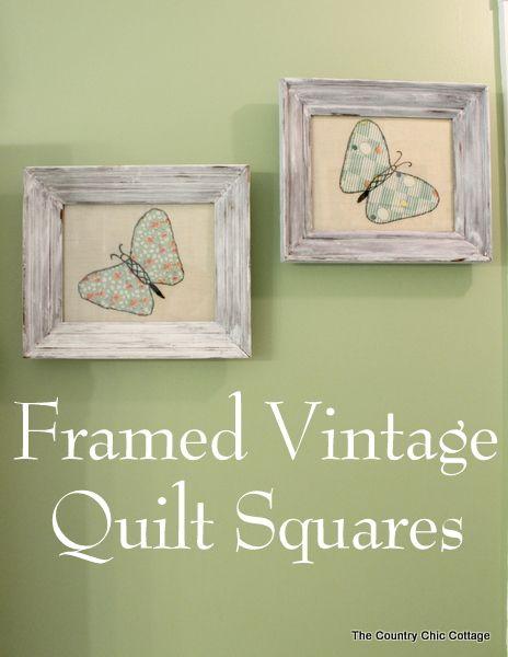 Framing Vintage Quilt Squares | Squares, Vintage and Craft