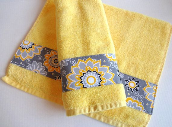 Pin By Julie Richie On Diy Stuff Yellow Hand Towels Yellow Towels Grey Bath Towels
