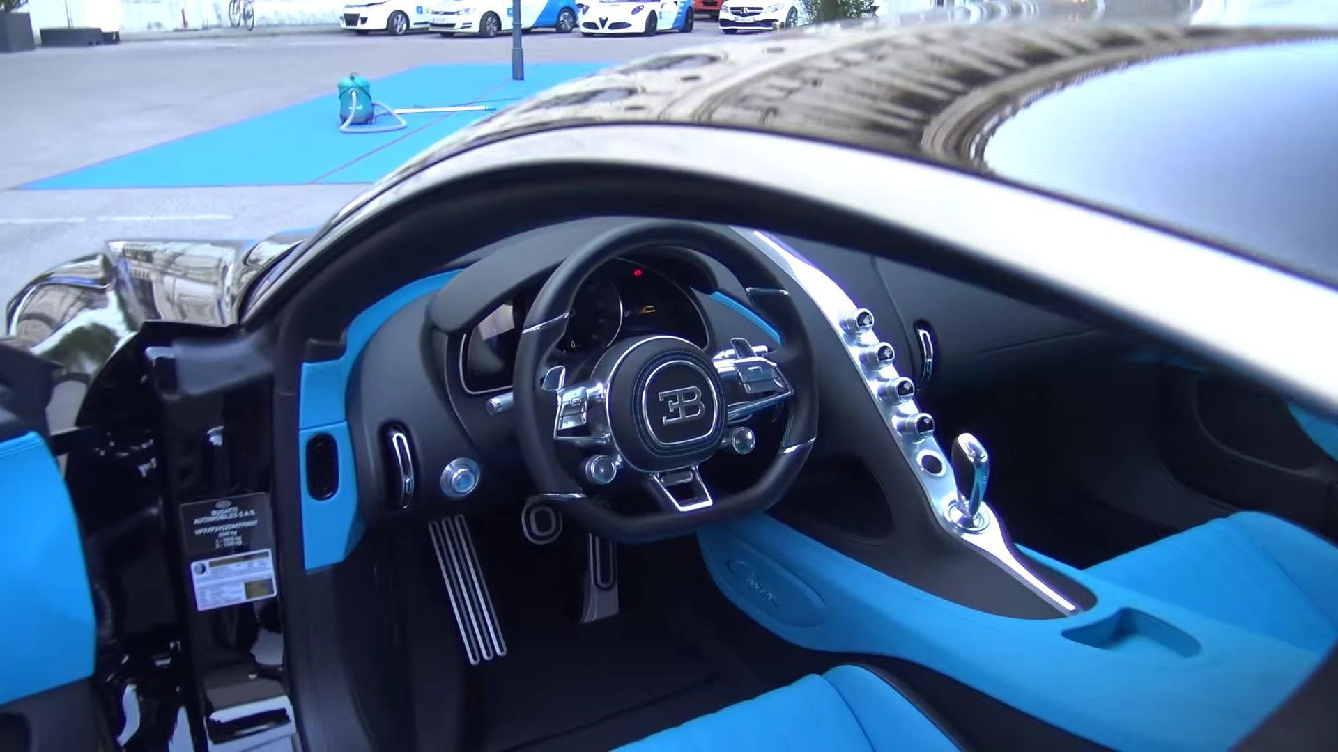 1500hp bugatti chiron interior view black and blue interior 2 auto addiction interiors. Black Bedroom Furniture Sets. Home Design Ideas