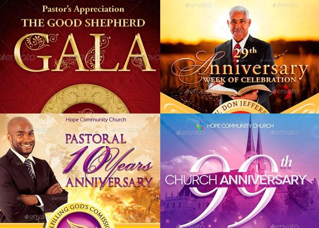 Pastor Appreciation Flyer Templates