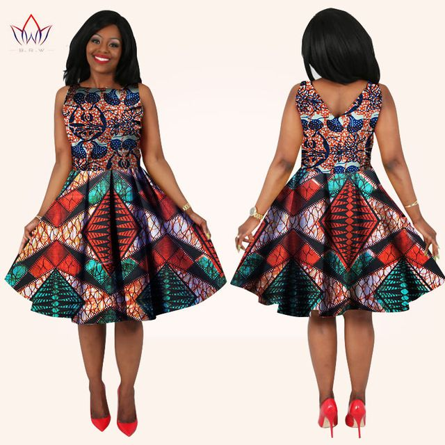 nouveau mode africaine femmes dress top longueur au genou ou midi longueur dashiki imprime dress. Black Bedroom Furniture Sets. Home Design Ideas