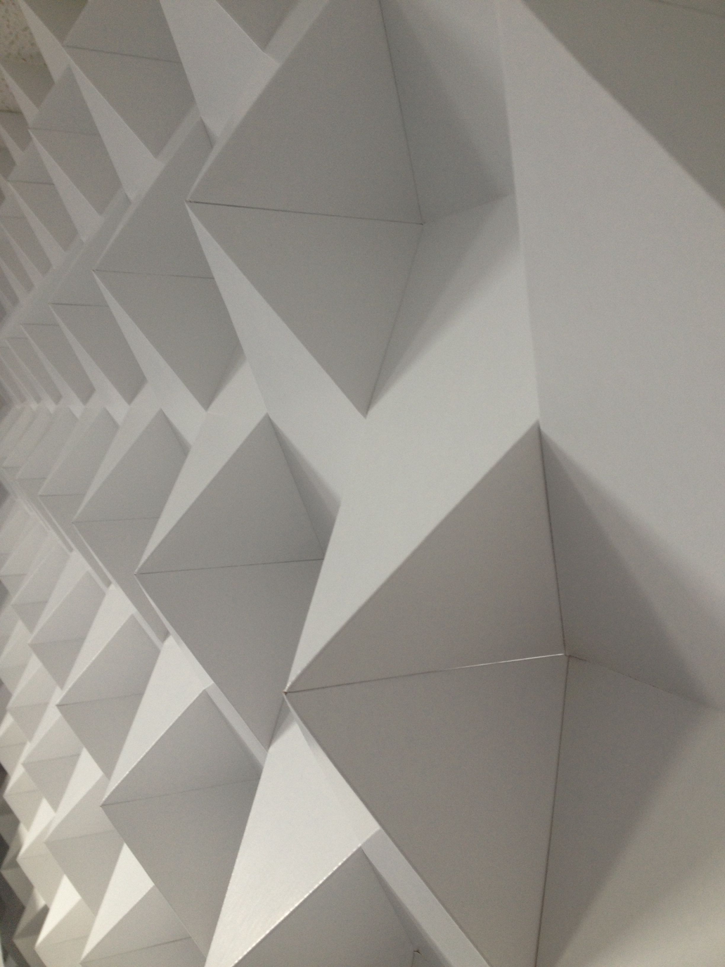 Awesome 3D wall design by our cardboard engineers ...