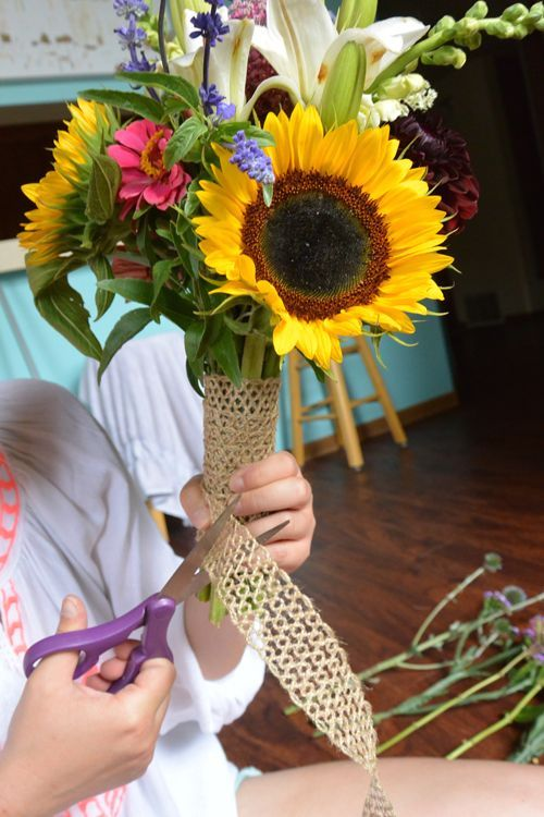 How to make your own wild flower bridal bouquet! | Fall Wedding ...