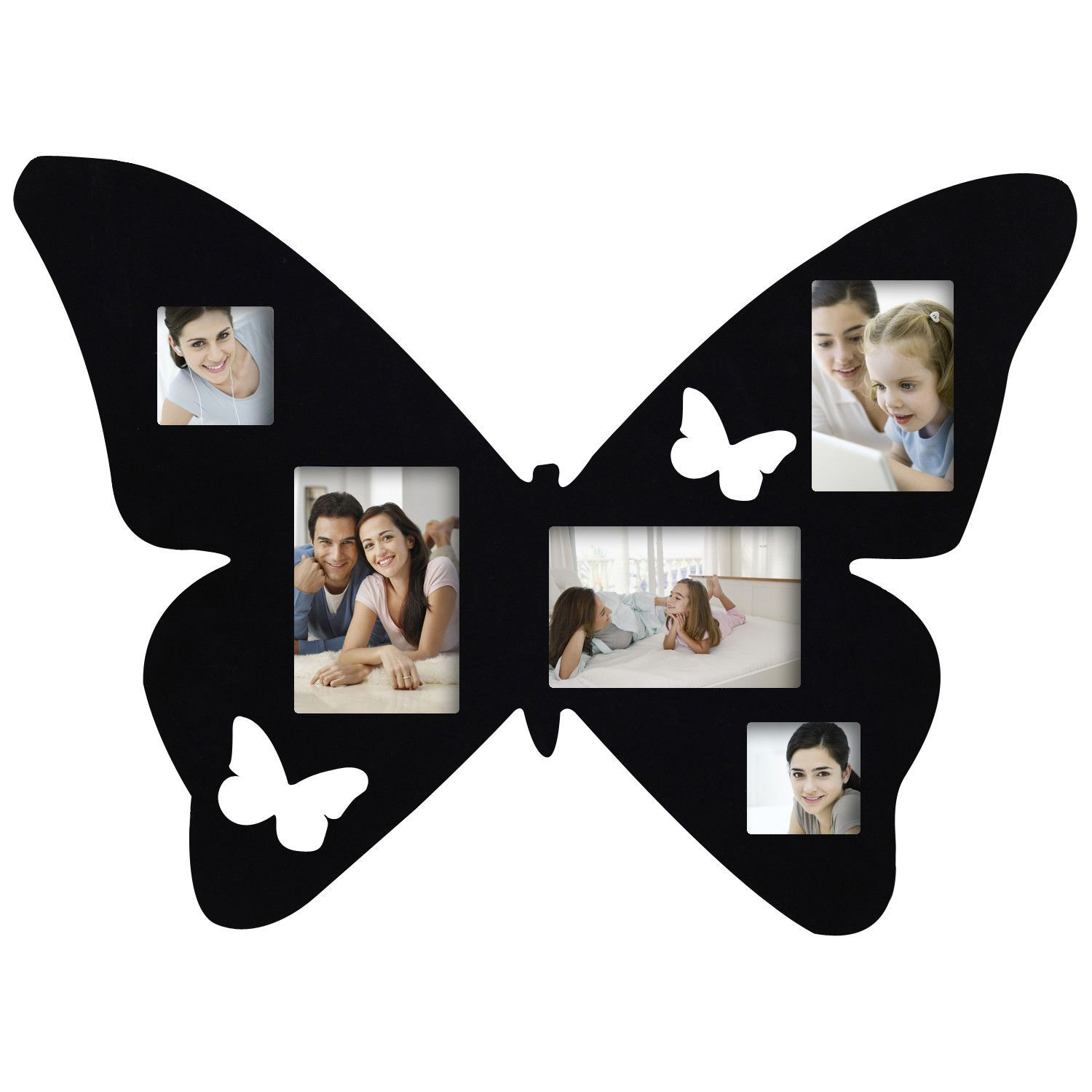 5 Opening Decorative Butterfly Wall Hanging Collage Picture Frame ...
