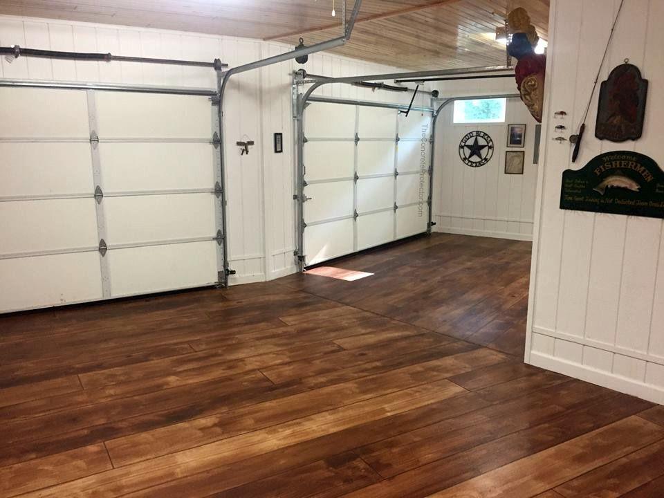 Rustic Concrete Wood Garage Floor, Wood Floor Garage