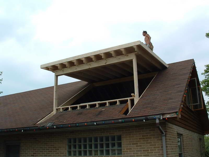 Shed Dormer Framing Plans | Shed Dormer With Flashing Lights | Attic on rafter plans, cupola plans, awning plans, porch plans,