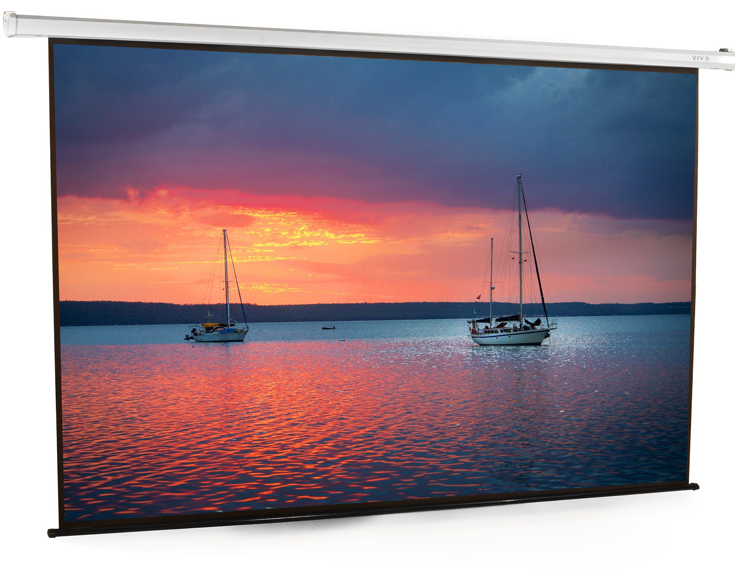 Vivo 100 Electric Motorized Projector Screen 100 Inch Diagonal Auto With Remote 4 3 Projection Hd Pse100e Projector Screen Projector Pull Down Projector Screen