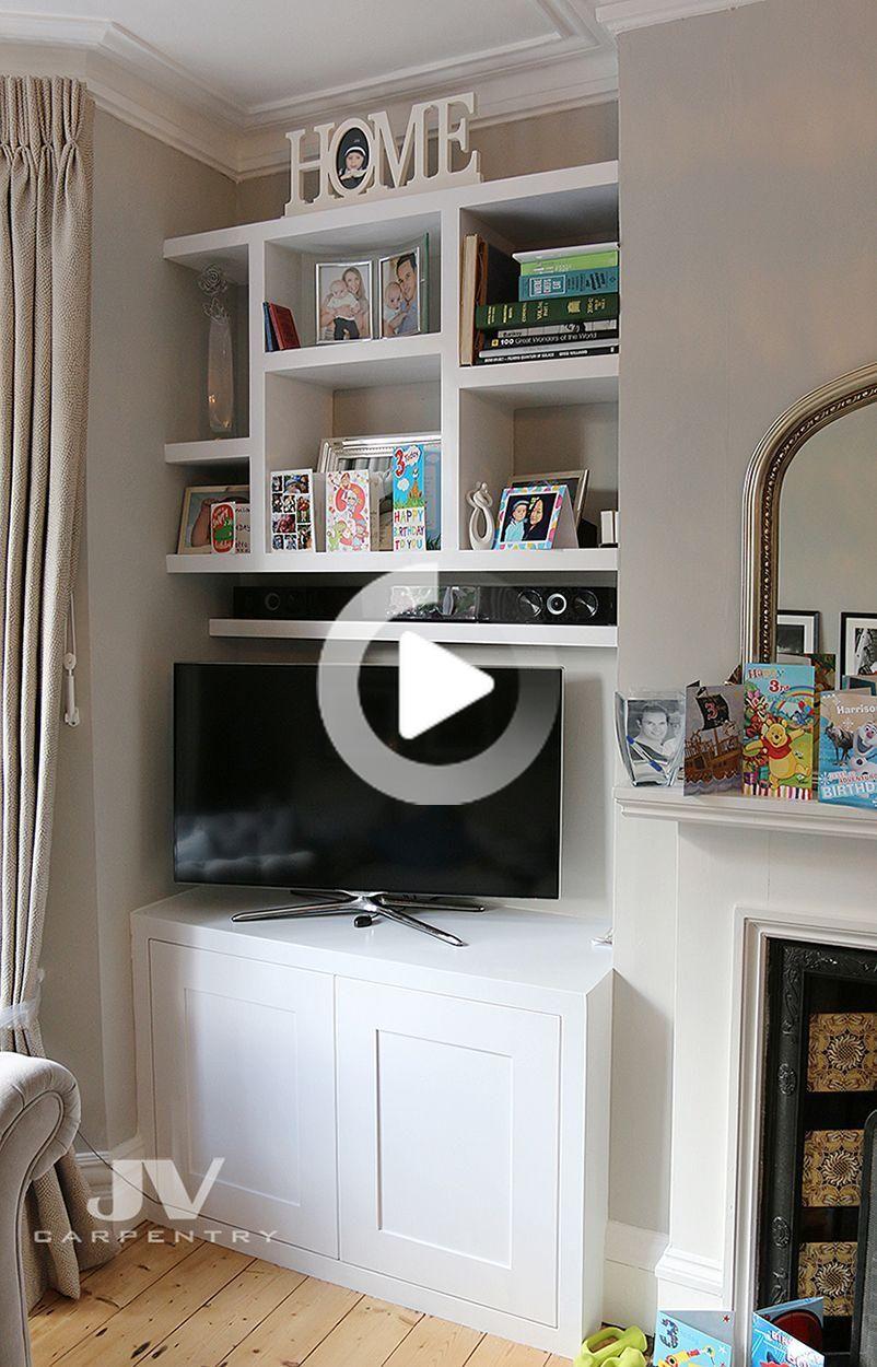 10 erstaunliche Nischenregalideen für Ihr Wohnzimmer in 10