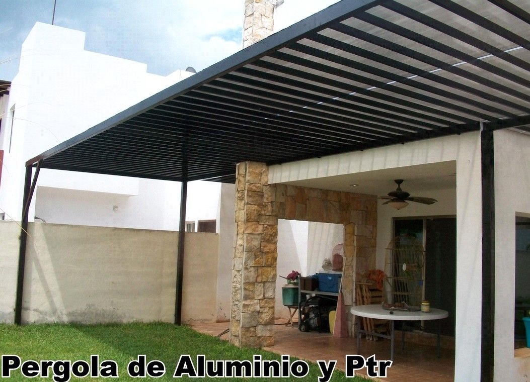pergola aluminio y ptr - Pergola De Aluminio
