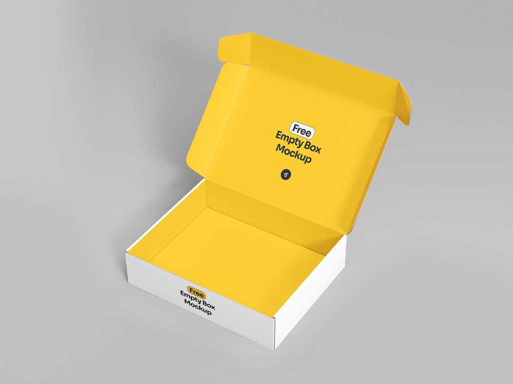 Download Free Open Empty Box Mockup Free Mockup Box Mockup Free Mockup Mockup