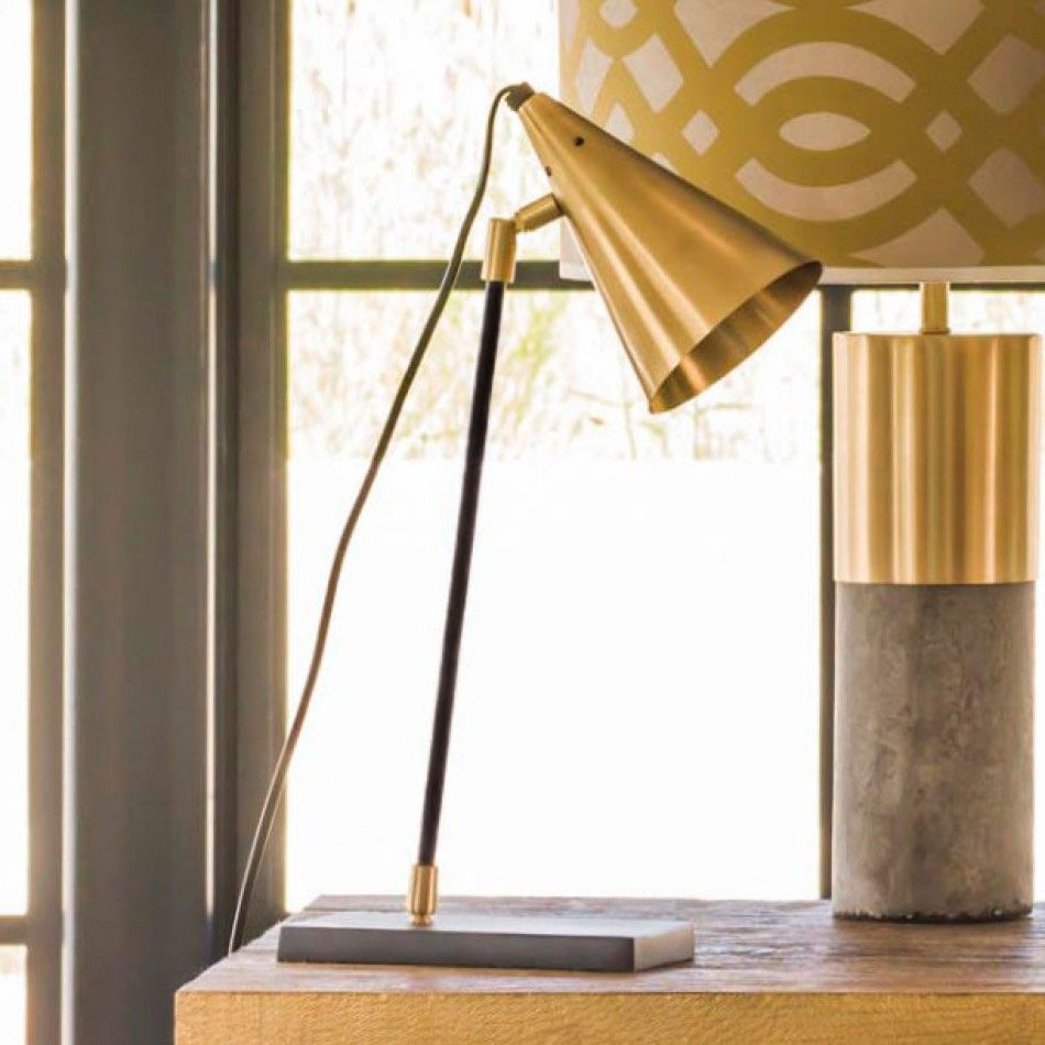 Leo Brass Table Lamp | Interiors # Lighting | Pinterest | Brass ...