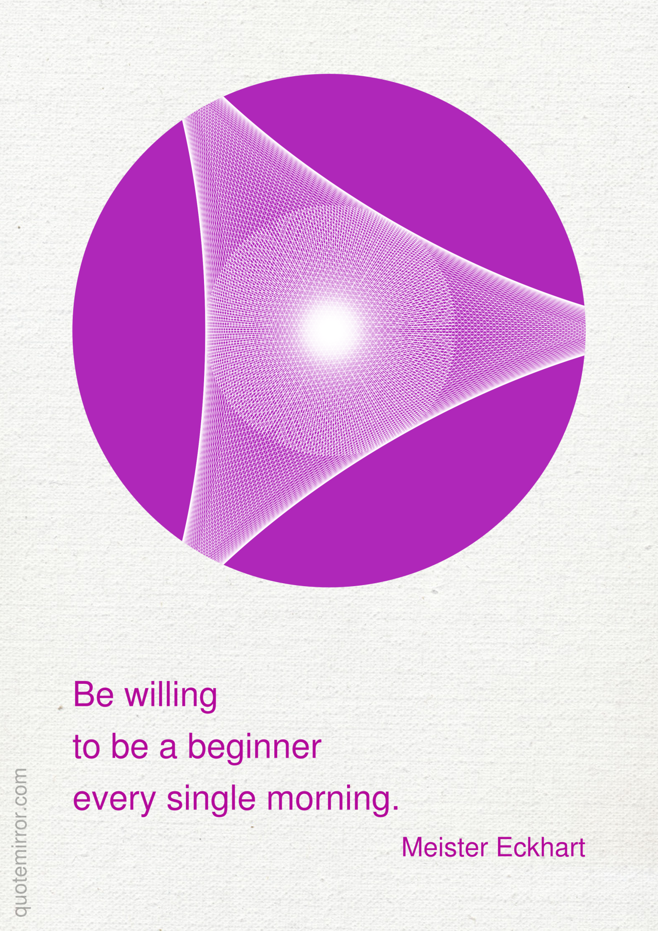 Be willing to be a beginner every single morning. –Meister Eckhart #beginner #morning http://quotemirror.com/s/7y84o