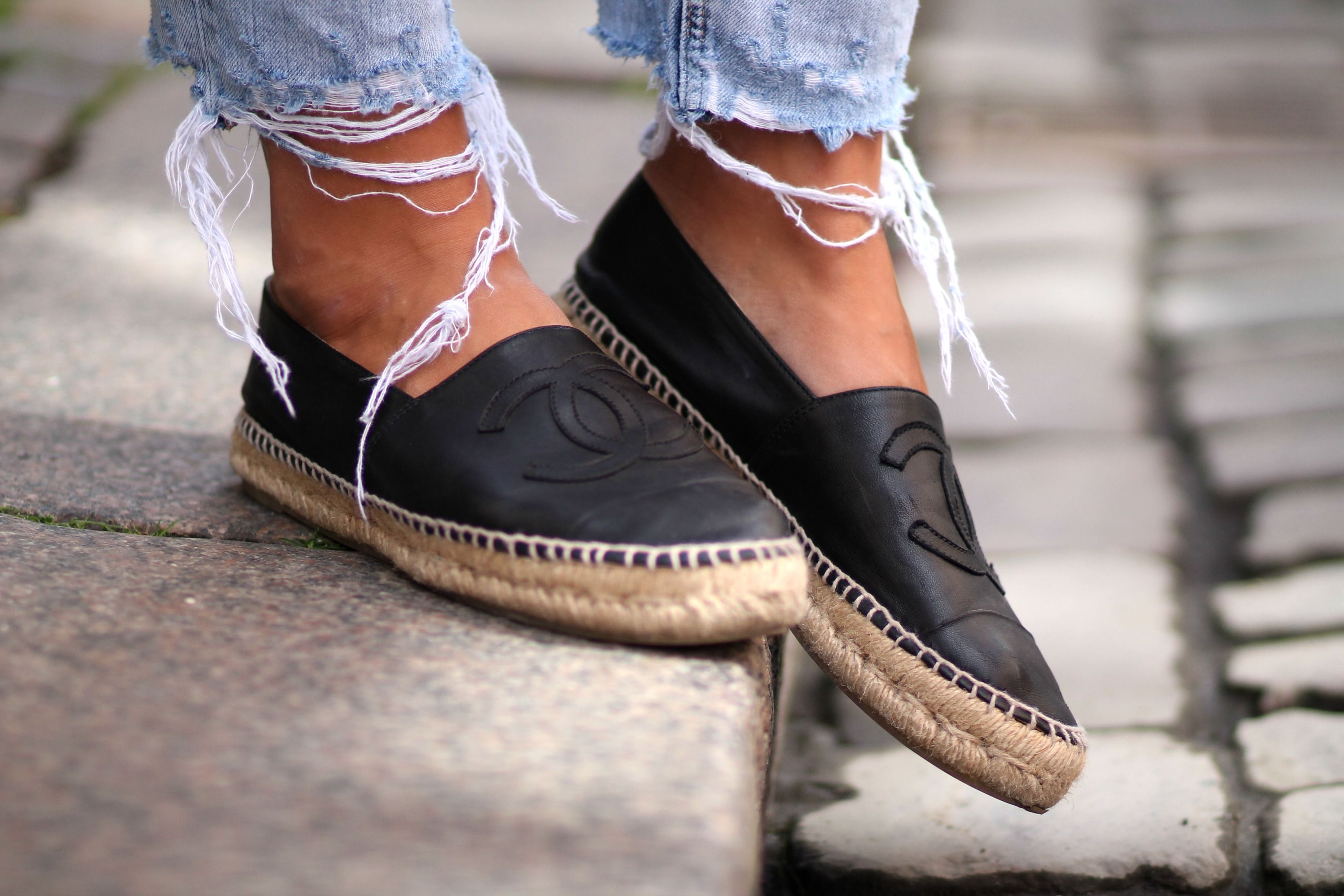 Slouchy Monday   Chanel espadrilles