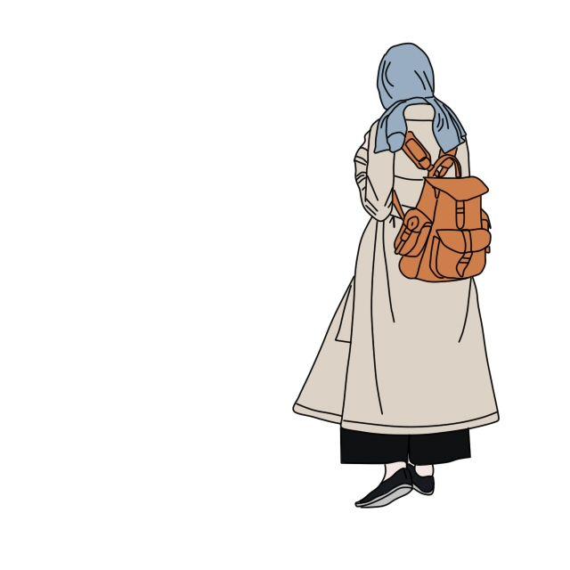 Hijab drawing   Kartun, Animasi, Gambar
