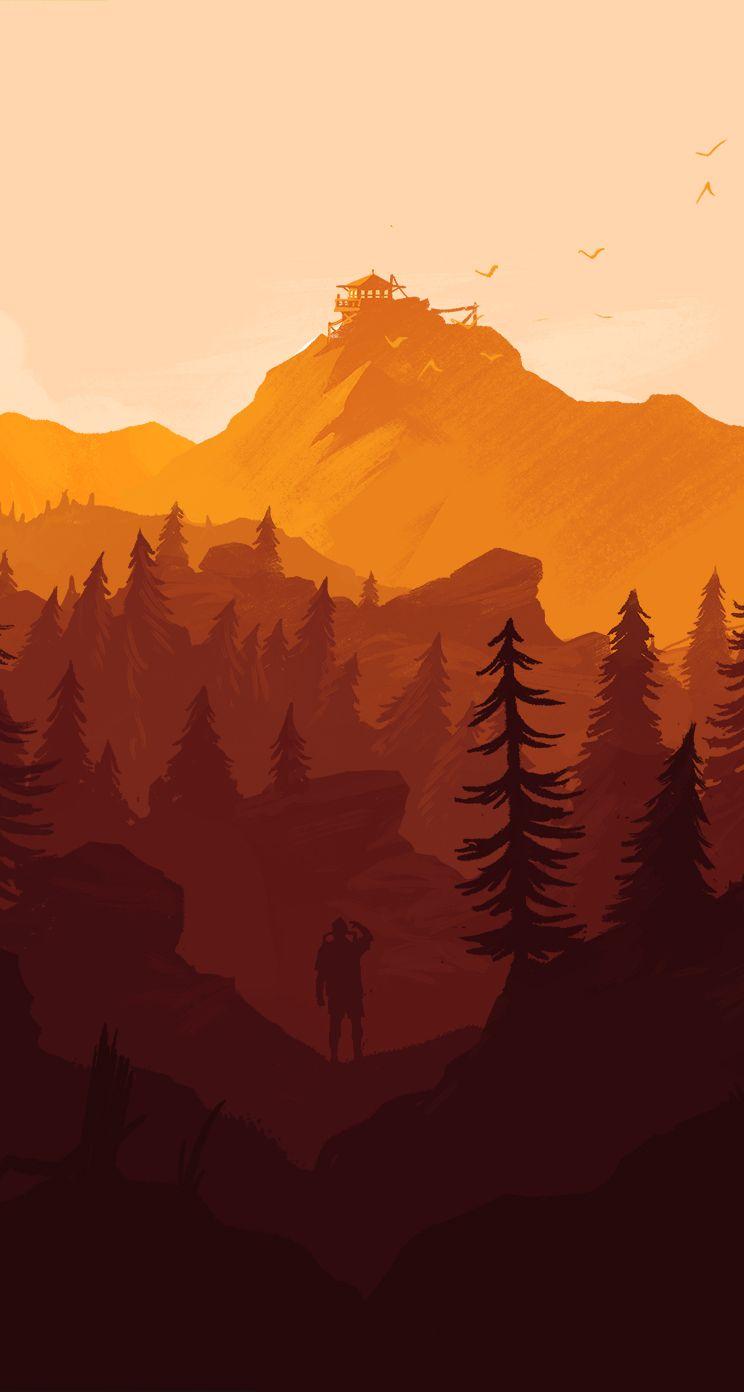 Firewatch Arte da paisagem, Paisagem desenho, Wallpapers