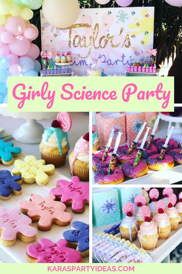Girly Science Party Science Party Science Themed Party Unique