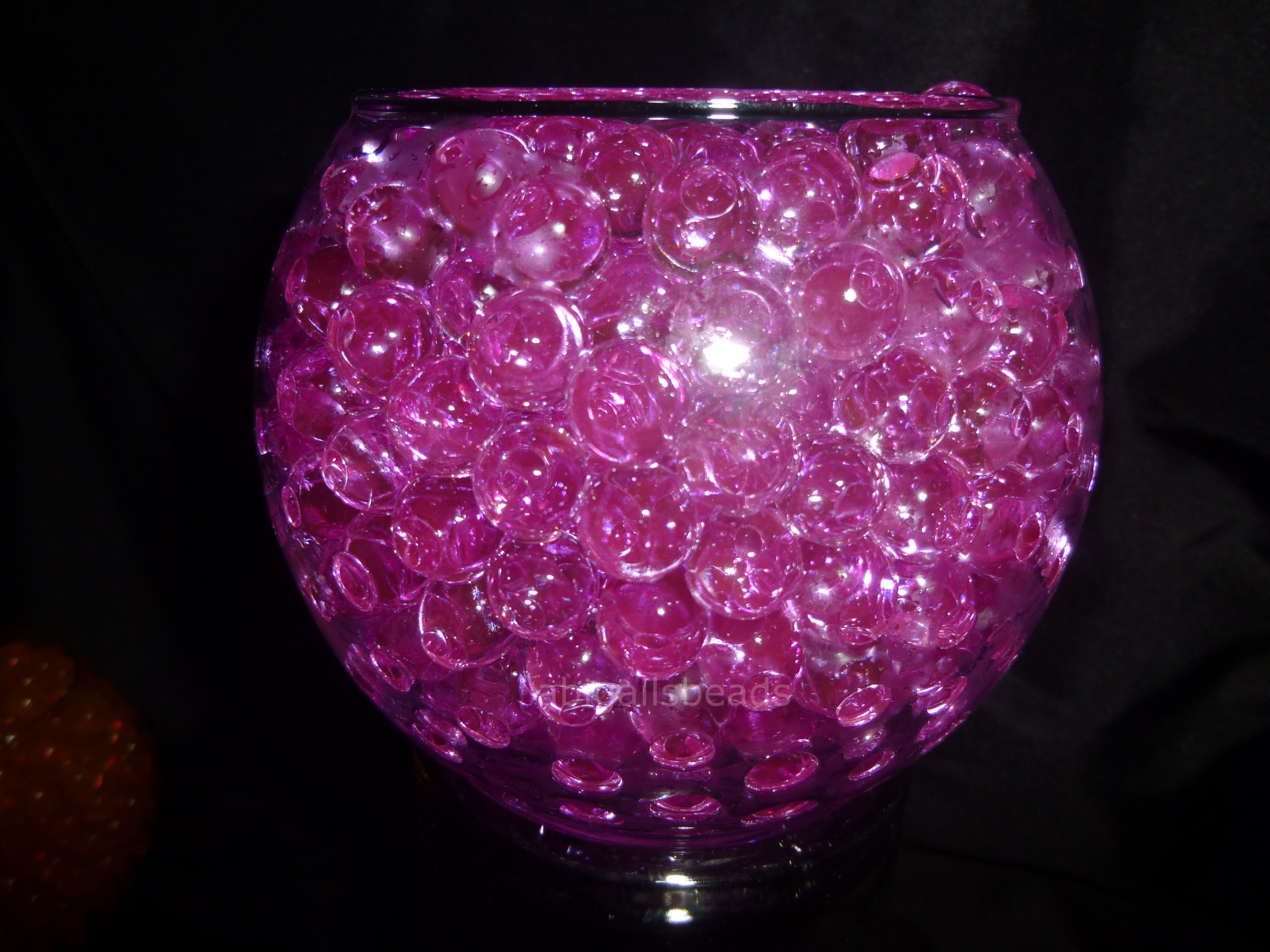 Pink Water Beads Hydrated Absorbing Gel Magic Marble