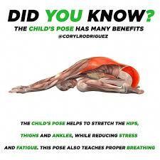 child pose stretch  google search  yoga postures yoga