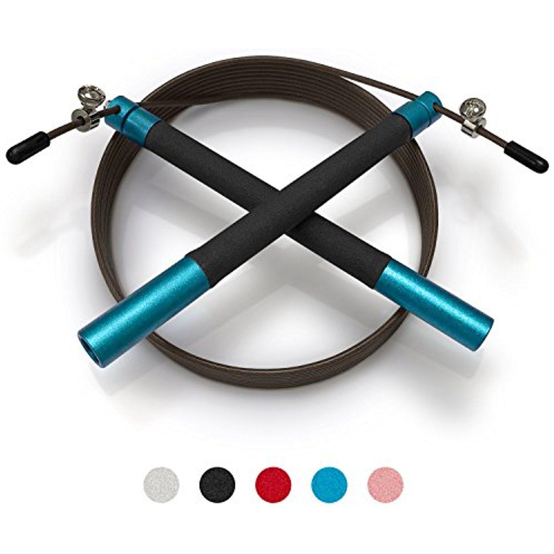 Aluminum Fitness Jumprope With Ball Bearing Handles Adjustable 11 Foot Cable Carrying Bag Bonus 4k Ebook An Best Jump Rope Calisthenics Equipment Jump Rope