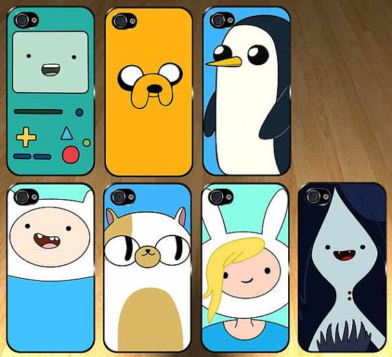 Adventure time 7 case set Iphone 4s and Iphone 4 Case, Cover. Not a bad price at all. $70 #adventure_time #iphone