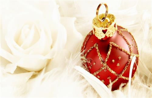 Red and Golden Christmas Ball