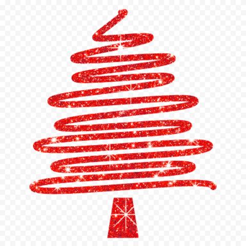 Hd Creative Red Glitter Christmas Tree Ribbon Line Style Png Ribbon On Christmas Tree Glitter Christmas Red Glitter