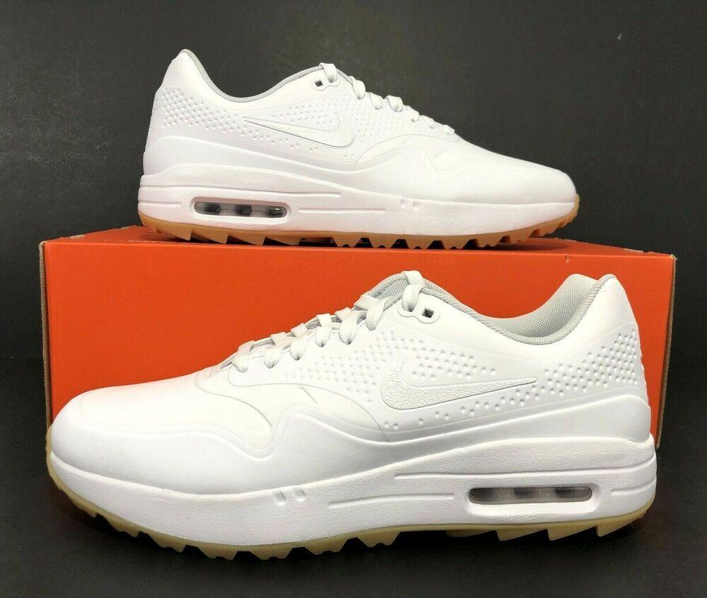 Ad Ebay Nike Air Max 1 G Golf Shoes White Gum Light Brown Aq0863 101 Men S Size 10 Nike Air Nike Air Max Golf Shoes