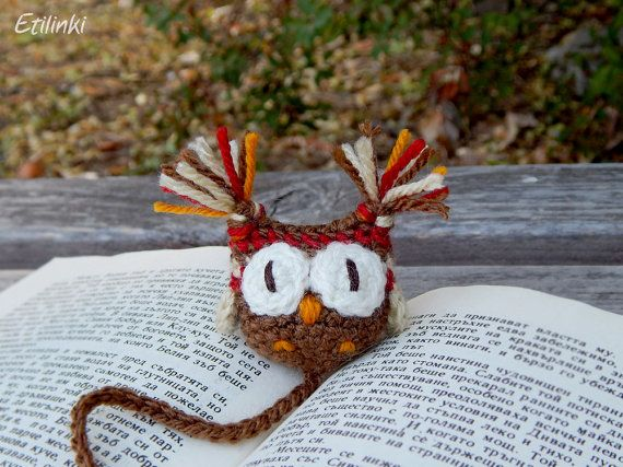 Fall Birthday Gifts Autumn Book Accessory Handmade Bookmark Crochet Owl Unique Gift For Readers Kids