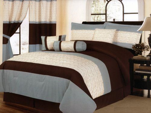 http://archinetix.com/7pc-quilted-leaves-striped-soft-microfiber-comforter-set-brown-blue-white-queen-p-5596.html