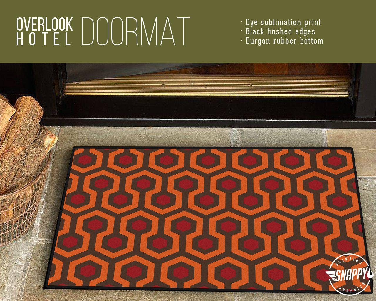 Overlook Hotel Carpet Pattern Welcome Mat Doormat Rug Etsy Hotel Carpet Patterned Carpet Overlook Hotel Carpet