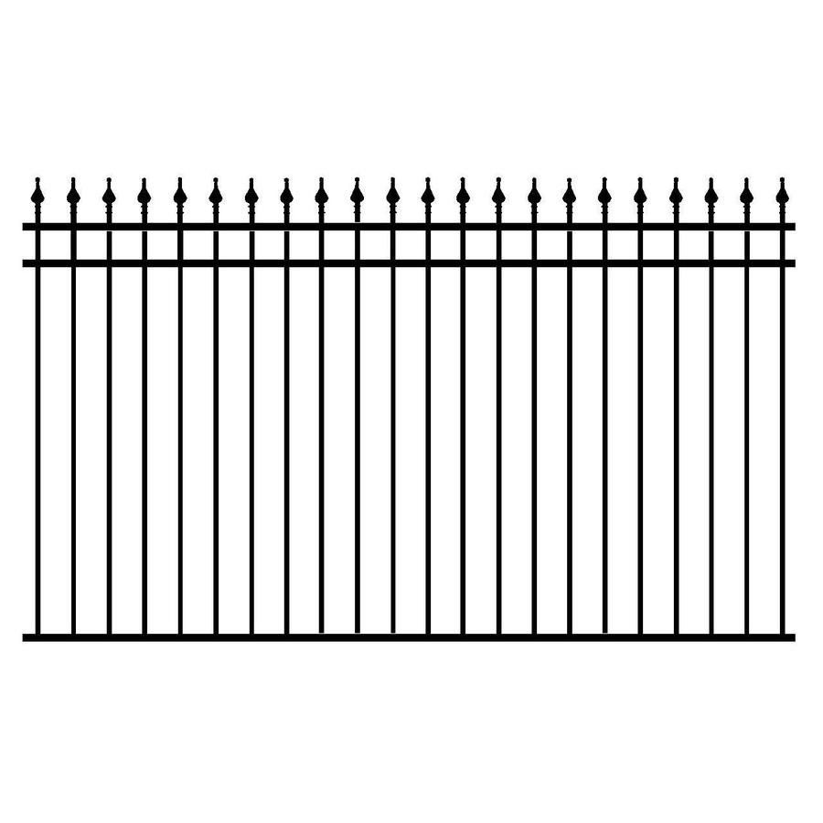 Barrette standard black metal aluminum not wood aluminum fence shop unbranded iron eagle 2000 series powder coated high gloss black galvanized steelaluminum fence panel at lowes canada find our selection of fence baanklon Gallery