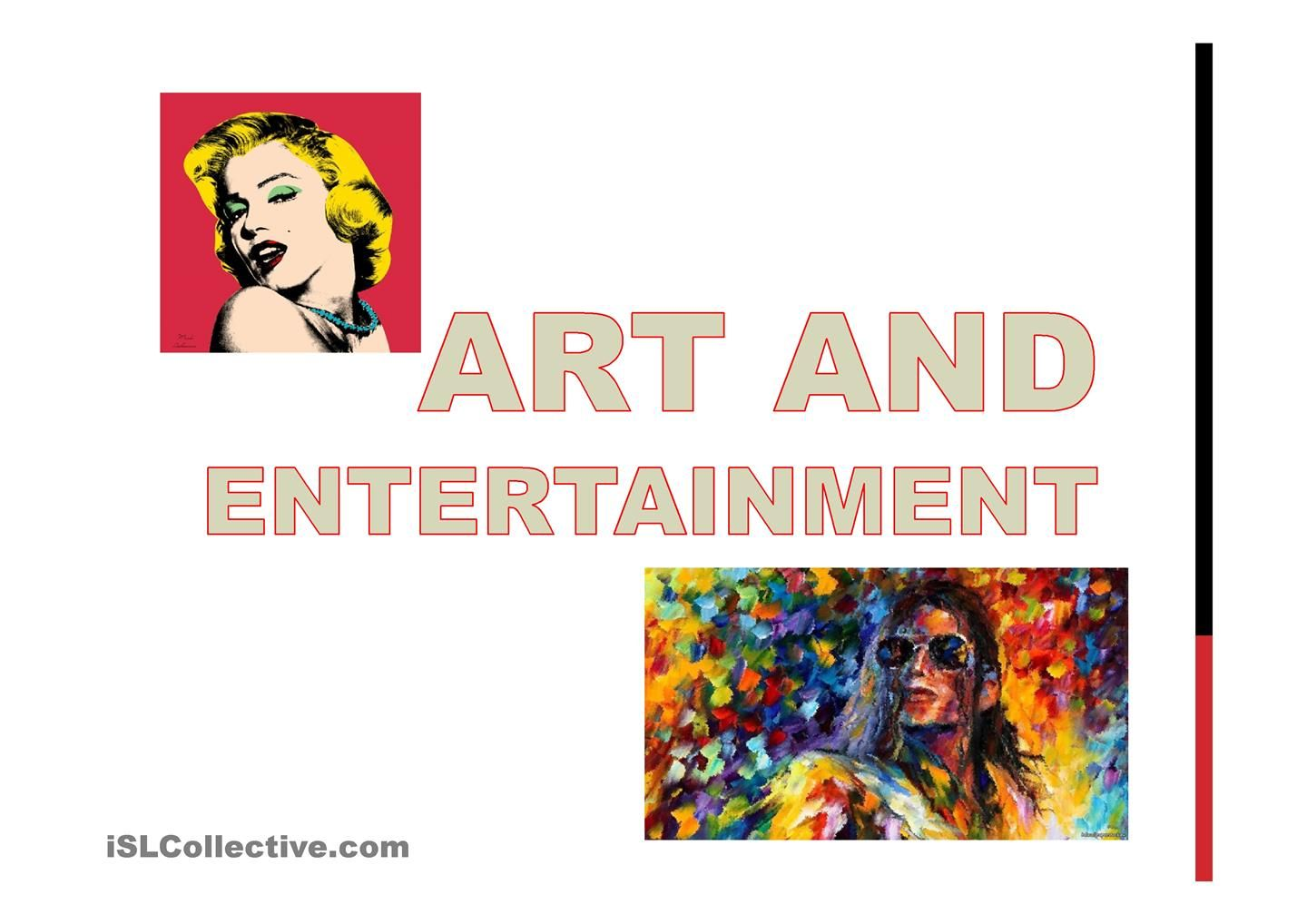 Art And Entertainment Esl Powerpoint Esl Powerpoint Worksheet Of The Day Of April 22 By