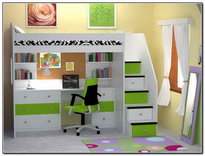 childrens bunk beds with desk - Google Search
