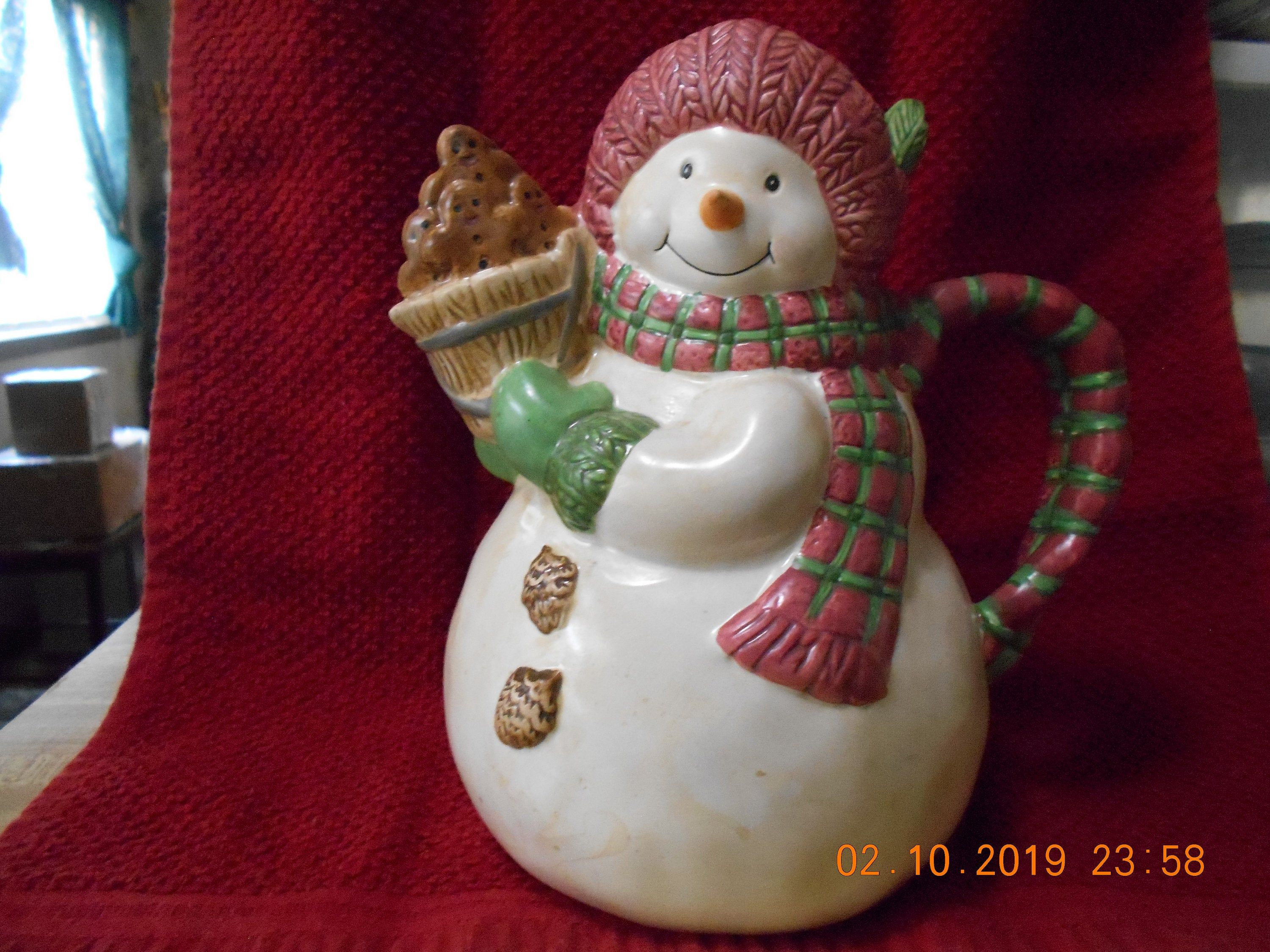 Holiday Time Snowman Milk Pitcher Holiday time, Holiday