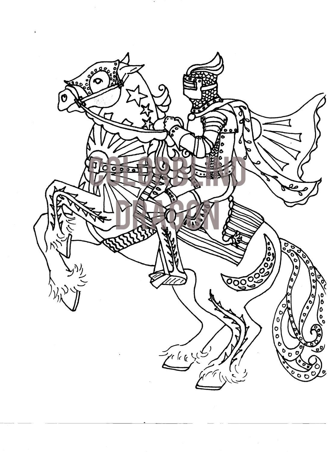 Horse Coloring Page Knight Coloring Page Midevil Dark Ages Riding Gallop Chivelry Saddle Cape Horse Coloring Pages Coloring Pages Horse Coloring [ 1500 x 1090 Pixel ]