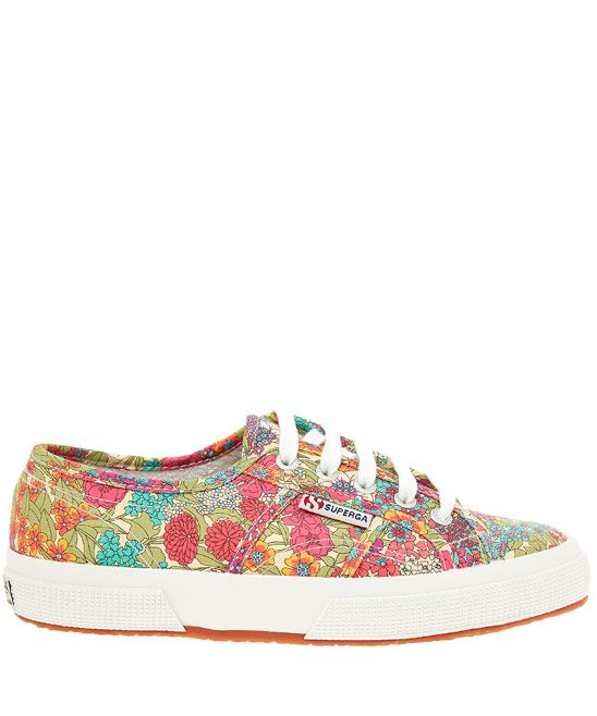 best best wholesaler outlet on sale Superga Green 2750 Ciara Print Sneakers - Liberty Print | My Style ...