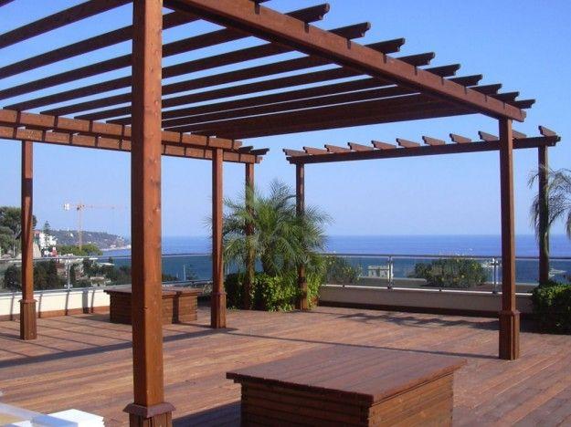 Gazebo in legno - Gazebo con tetto in paglia | Court yard and Pergolas