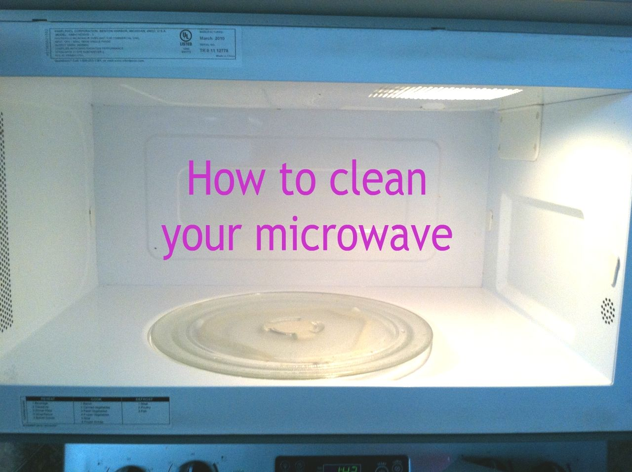 How to clean your microwave easy clean microwave