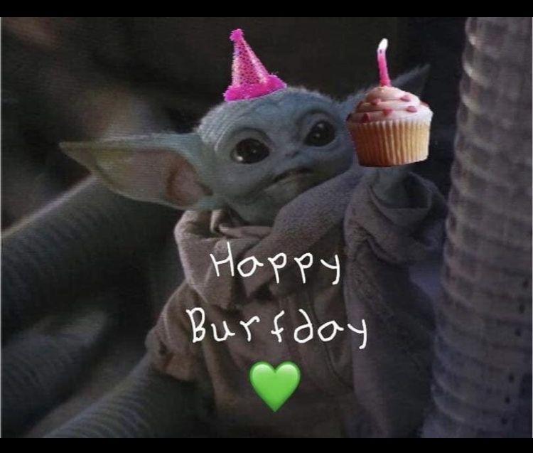 Baby Yoda Birthday Yoda Happy Birthday Yoda Funny Yoda Wallpaper