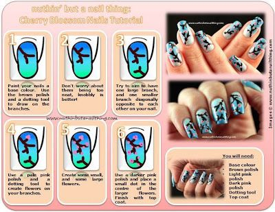 Cherry Blossom Nail Art Tutorial Must Try This One