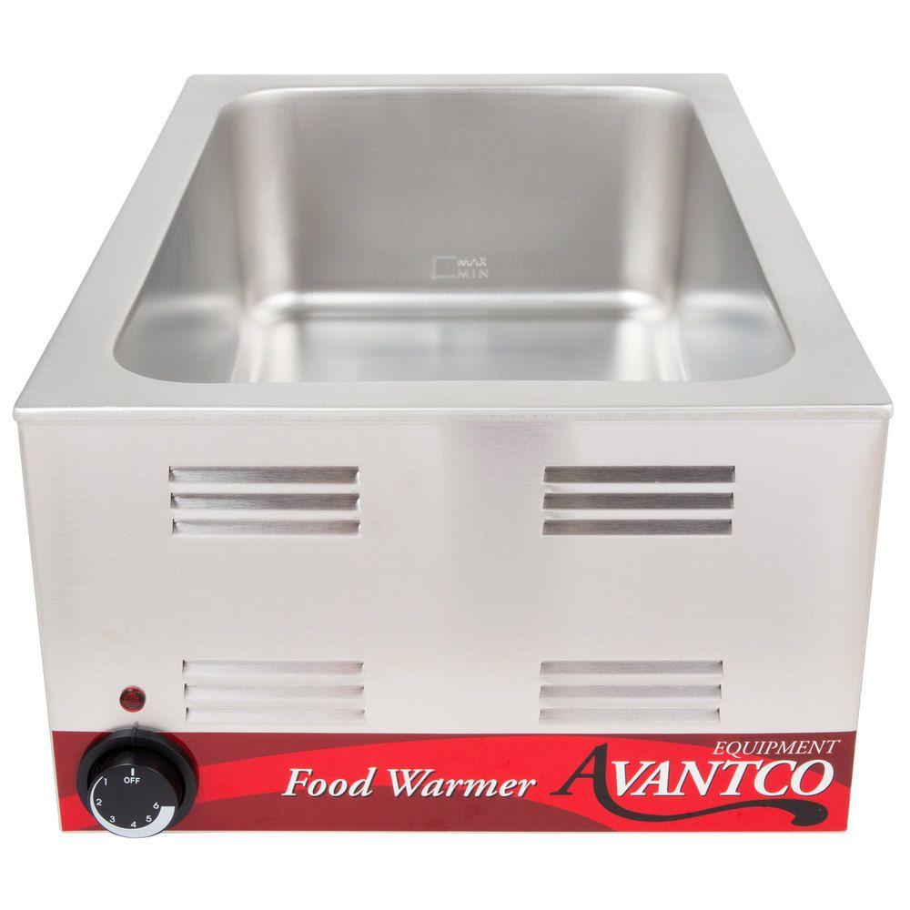 Avantco W50 12 X 20 Full Size Electric Countertop Food Warmer 120v 1200w Food Warmer Buffet Countertops Food Service Equipment