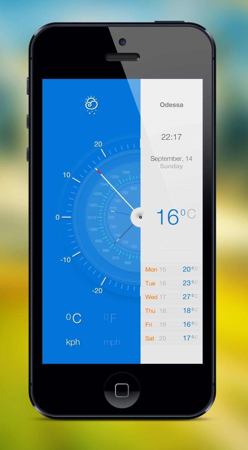 Very scientific looking Weather app 2013-12-22その二