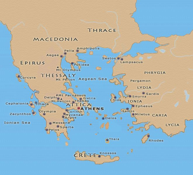 Ancient Greece Maps of the Ancient World Pinterest Ancient