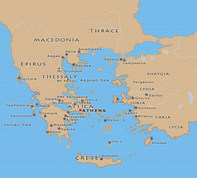 Map Of Ancient Greece Pylos Creativehobby Store