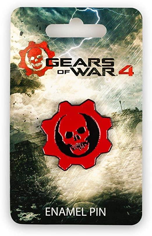 Amazon Com Gears Of War 4 Crimson Omen Pin Gears Of War Metal Enamel Logo Pin Official Video Game Collectible Toys Games Pin Logo Gears Of War Funky
