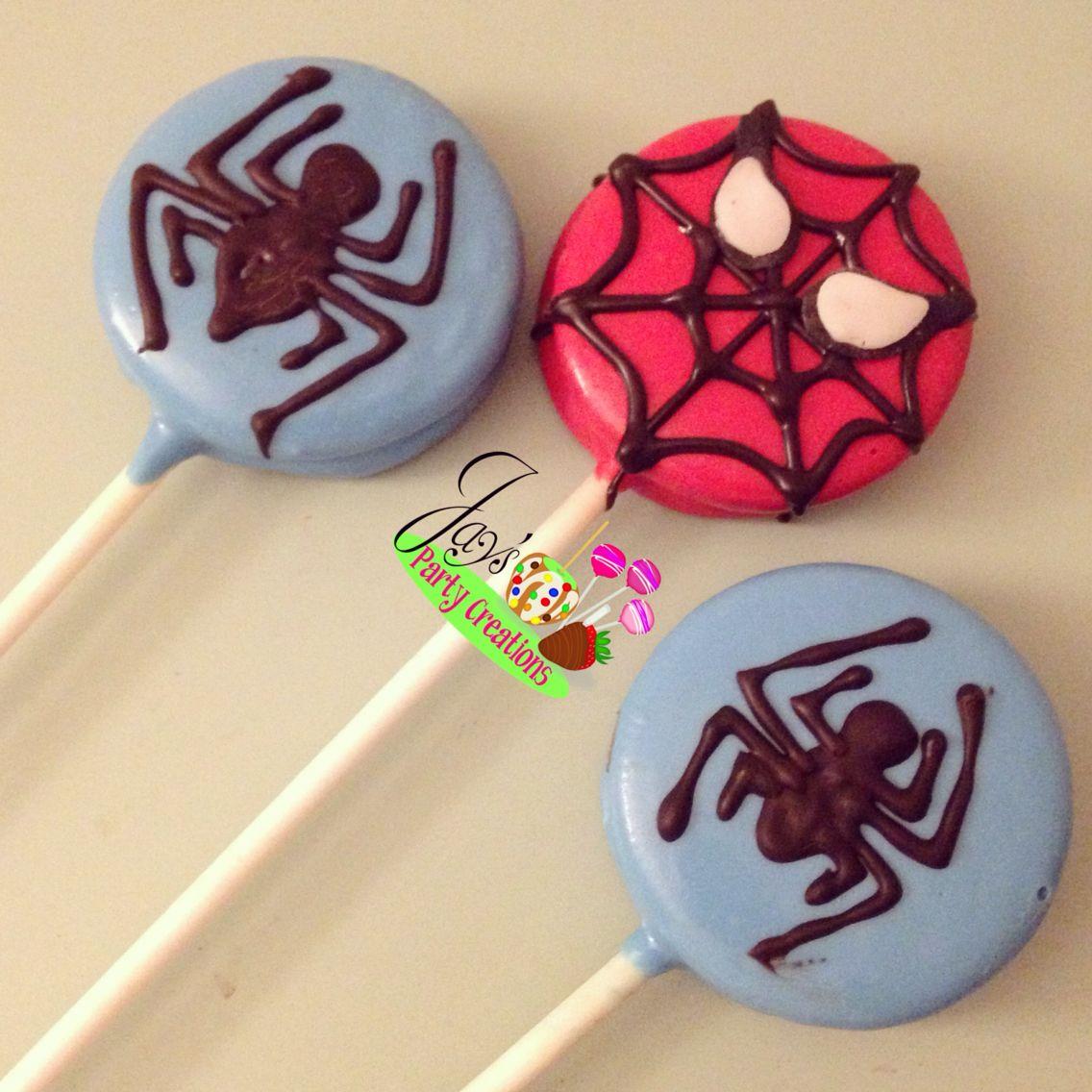 Spider Man Themed Oreo Pops