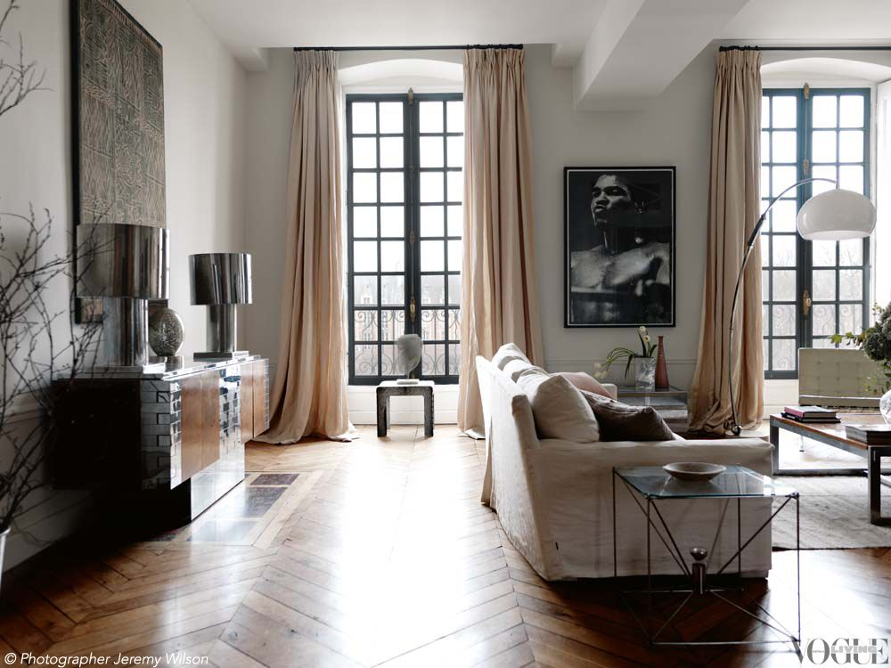 "Voguelivingmagazine "" Muted Cream And Apricot Tones Do Justice To Enchanting Designer Living Rooms Pictures Inspiration"